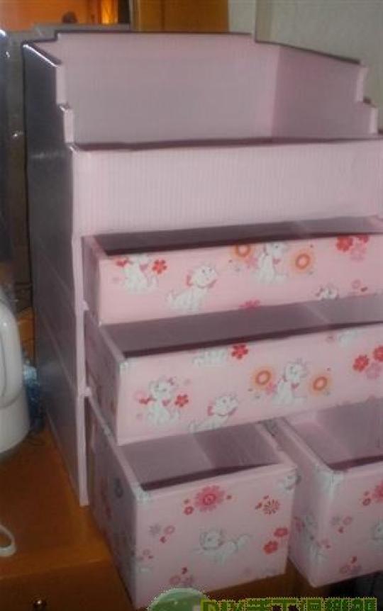 diy废物利用手工制作收纳盒