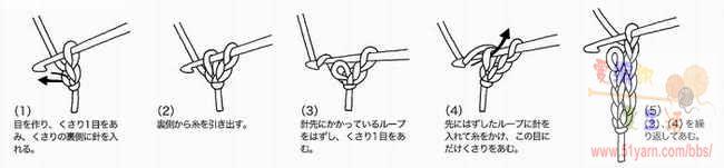 圆形钩针长针图解