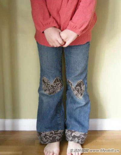 换季收拾衣服的时候才发现,家里大人的裤边很容易磨破,但整条裤子还是